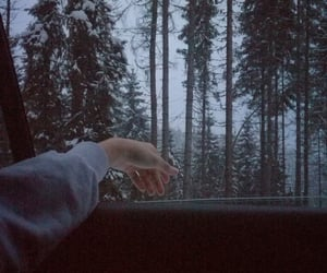 aesthetic, hand, and lake image