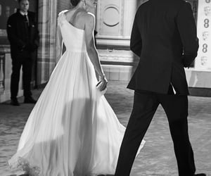 beautiful, black and white, and couple image