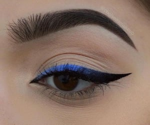 blue, eyeliner, and look image