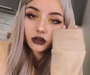 eyeliner, girl, and make image