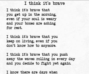 anxiety, brave, and courage image