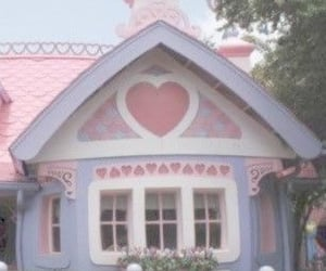 cottage, pink, and fairy garden image