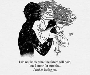 future, hug, and quotes image