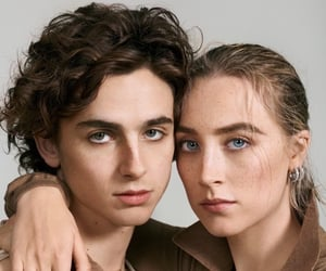 timothee chalamet, Saoirse Ronan, and little women image