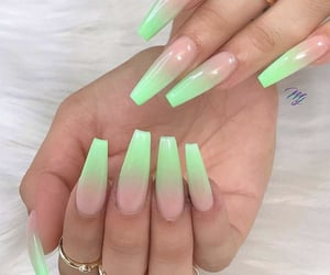 nails, girl, and colors image