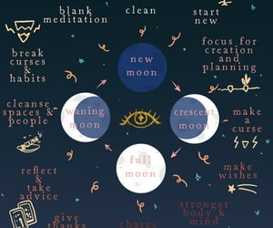 moon, moon phases, and meanings image