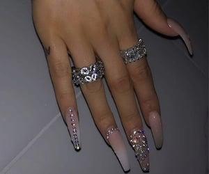 beauty, rings, and fake nails image