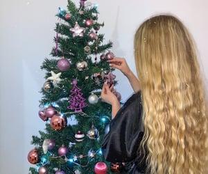 blonde, christmas, and christmas tree image
