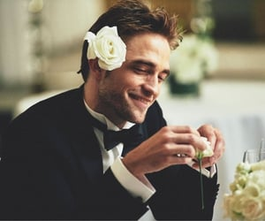 flowers, robert pattinson, and rose image