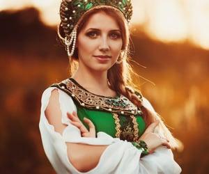 beautiful, dress, and green image