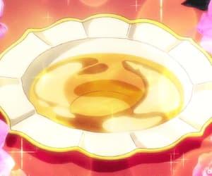 gif, anime food, and yellow drink image