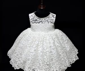 girl, lace dress, and little girl dress image