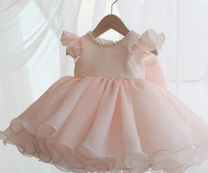 girl, little girl dress, and organza dress image