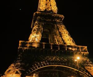 eiffeltower, night, and parís image