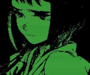green, anime, and aesthetic image