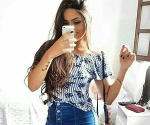 outfits, denim skirts, and shirts image
