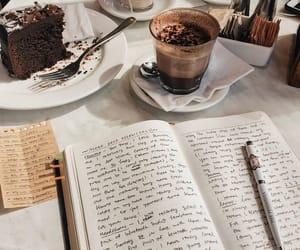 cake, coffee, and study image