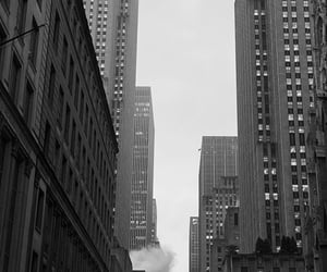 black and white, buildings, and cities image