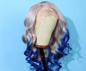 Peruvian Hair Gradient Color Blue With Silver Body Wave Lace Front Wig