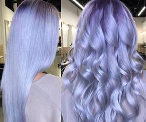 platinum hair, purple hair, and shiny hair image