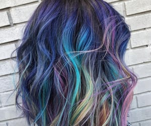 color hair, purple hair, and highlights hair image