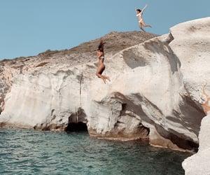 beach, girls, and Greece image