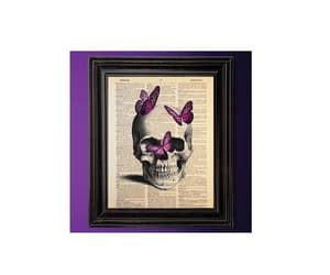 unique art, pink butterflies, and dictionary art image