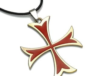 necklace, Assassins Creed, and templar iron cross image