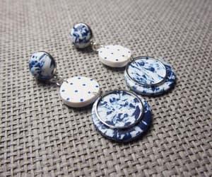 etsy, stud earrings, and modern earrings image
