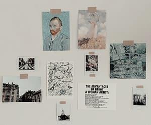 art, van gogh, and wall image