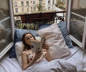 book, girl, and paris image