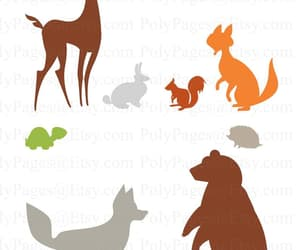 clip art, woodland creatures, and etsy image