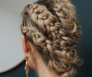 blond, braids, and chic image
