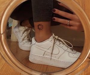 moon, tattoo, and nike image