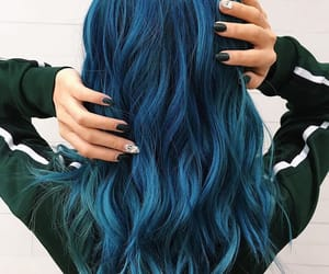 blue hair and midnight blue hair color image