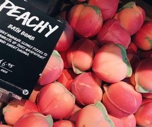 peach, lush, and bath bomb image