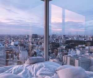 city, travel, and bedroom image