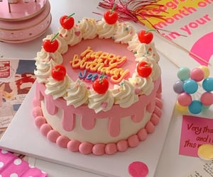cake, colorful, and food image