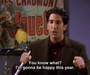 friends, happy, and ross image
