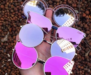 cool, glasses, and pink image