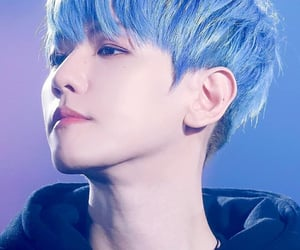 blue, exo, and baekhyun image