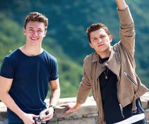 tom holland, harrison osterfield, and spiderman image