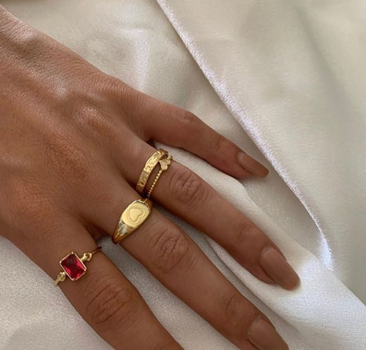 jewelry, gold, and rings image
