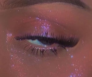 glitter, makeup, and pink image