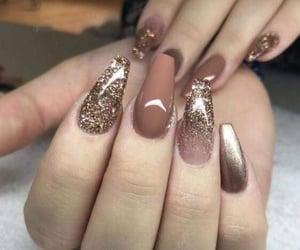 nails and glitter nails image