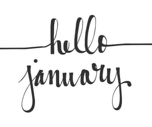 january, new year, and winter image