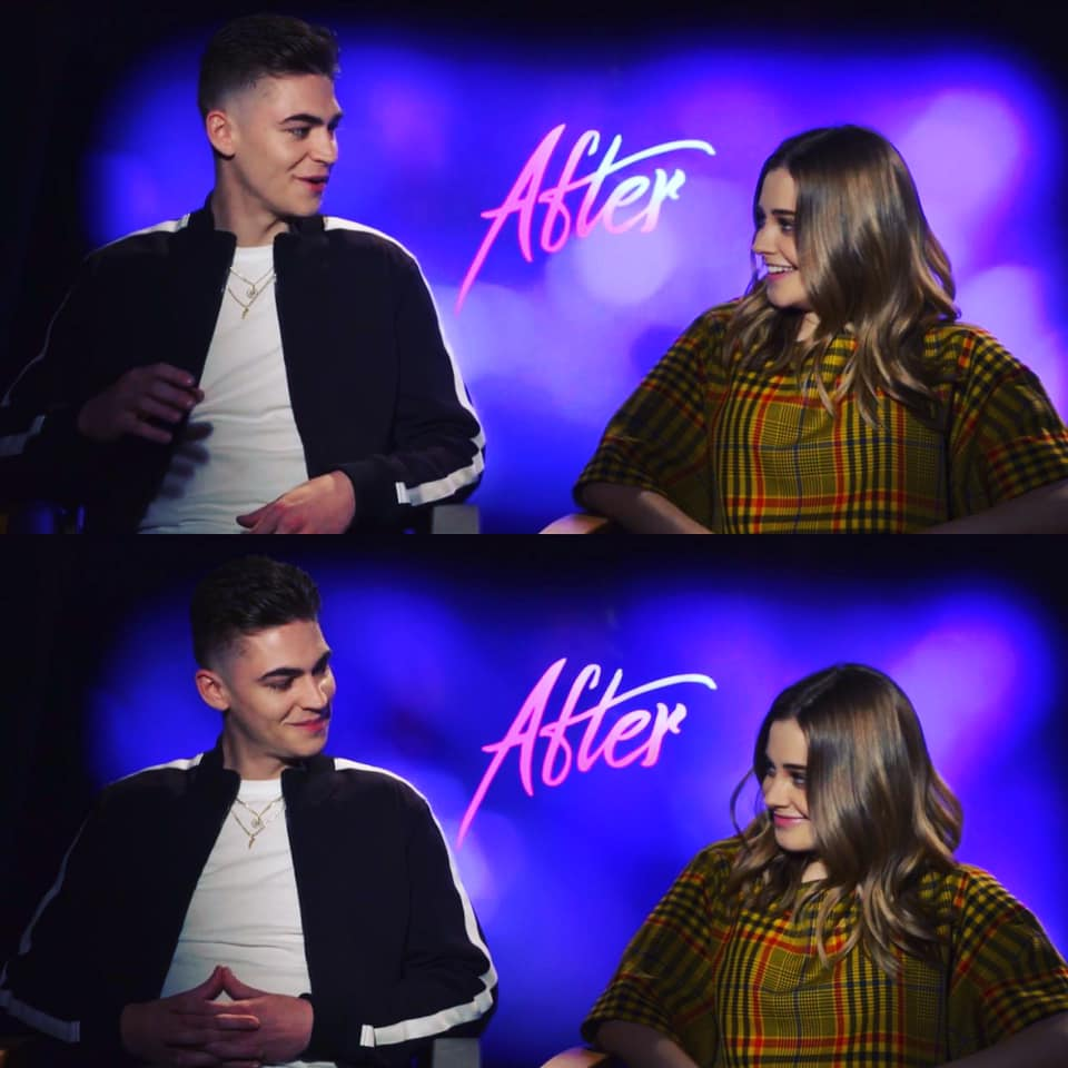 after, hero fiennes-tiffin, and tessa young image