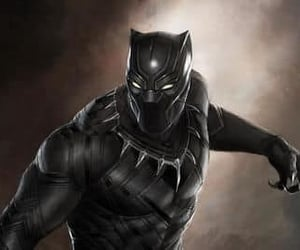 black panther, Marvel, and marvel comics image