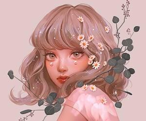 aesthetic, light, and anime girl image