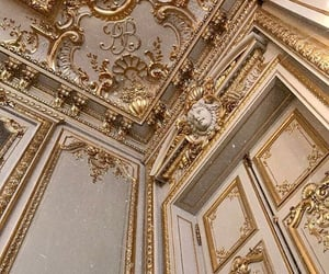 gold, castle, and decor image
